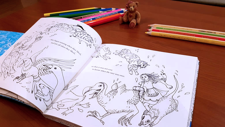 Escape to Wonderland Alice's Adventures - A Colouring-book Adventure - Good Wives and Warriors - Puffin - ISBN: 9780141366159