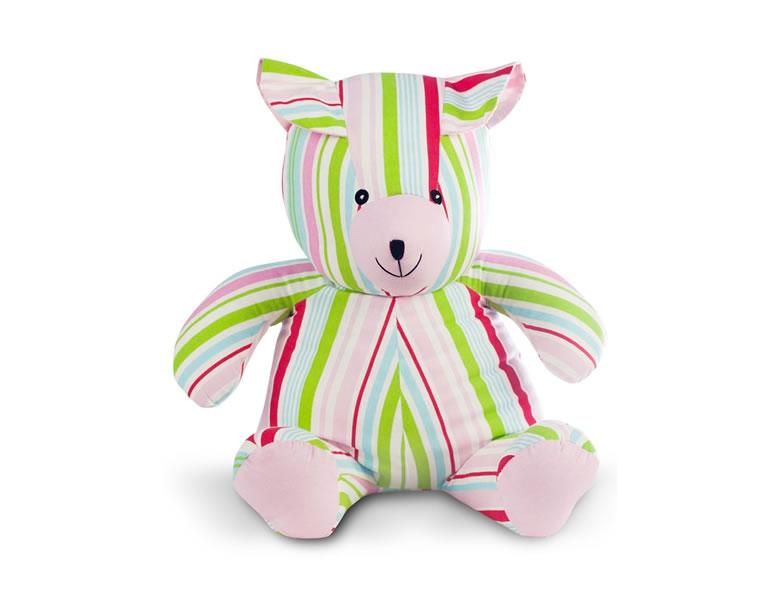 Jucarie textila ursulet multicolor, pentru bebe de la 0 la 12 luni U-Grow