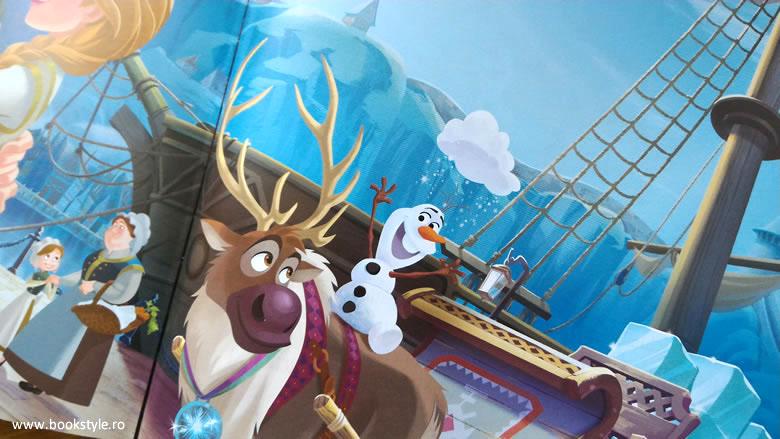 Regatul de gheata - Frozen - Biblioteca ilustrata Disney - Editura Litera Editie de colectie