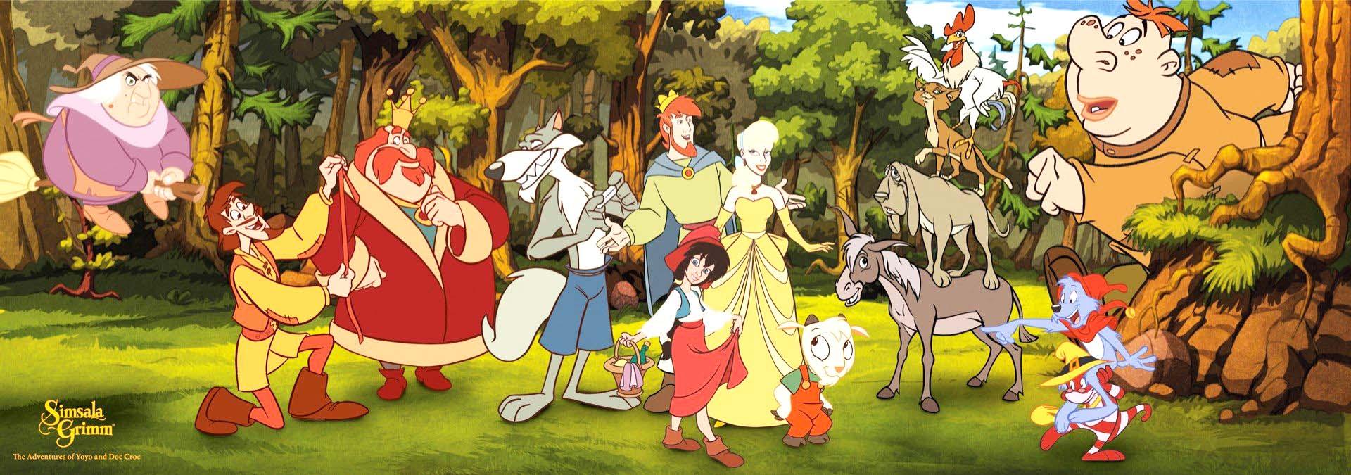 Simsala Grimm, desene animate Minimax, Povești Frații Grimm