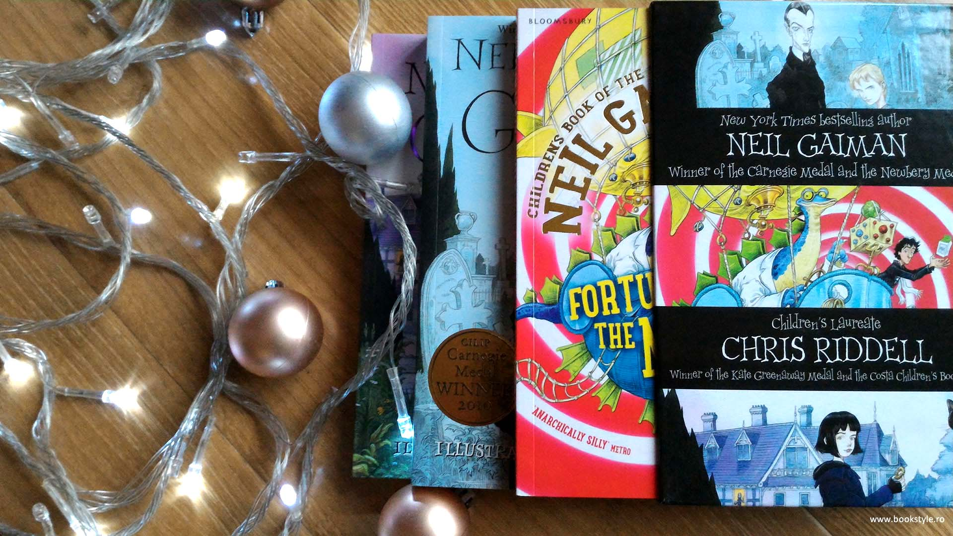 Fortunately the milk | The Graveyard Book | Coraline - Neil Gaiman - Children book boxset - Illustrated book by Chris Riddell