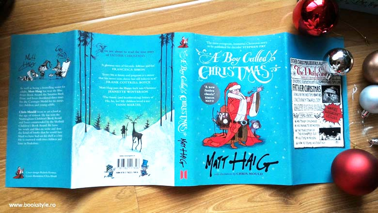 Un băiat numit Crăciun - A Boy Called Christmas, de Matt Haig și Chris Mould. Editura Canongate | Carte engleză ISBN: 9781782119487