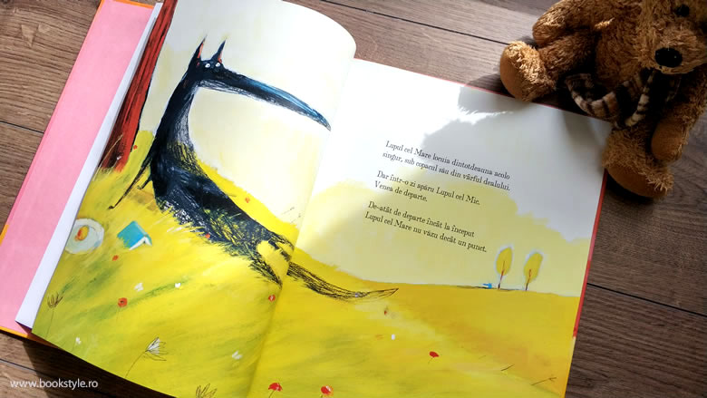 Lupul cel Mare și Lupul cel Mic, de Nadine Brun-Cosme, Olivier Tallec, Lavinia Braniște, Editura Cartea Copiilor, ISBN: 978-606-8544-51-9