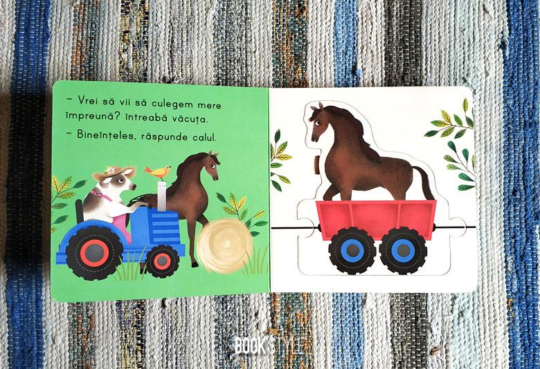 Tractorasul de la ferma - carte puzzle - bebe invata - editura litera