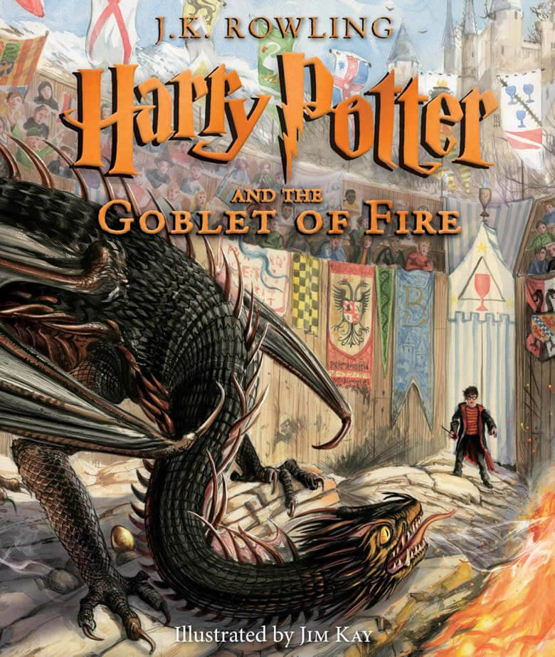 Harry Potter and the Goblet of Fire Illustrated Edition Cover