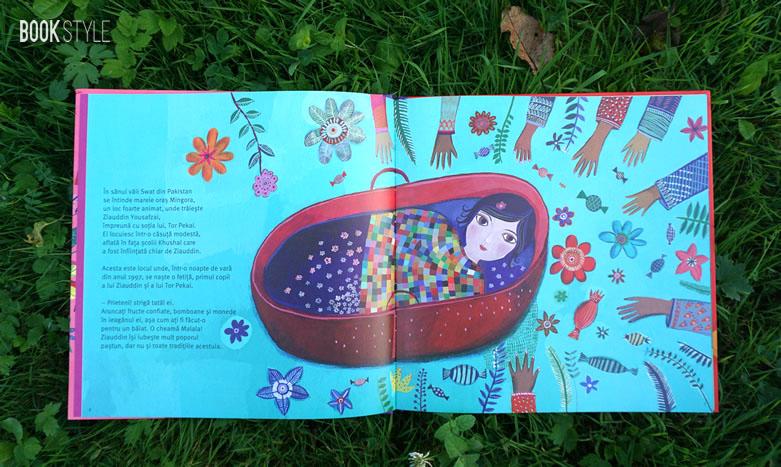 MALALA pentru dreptul fetelor la educație, de Raphaele Frier și Aurelia Fronty - Editura 0 - Cartemma - ISBN: 9786069457092