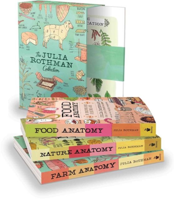 Colecția de cărți Julia Rothman - Nature Anatomy, Food Anatomy, Farm Anatomy - Storey Publishing LLC ISBN-13: 9781612128528