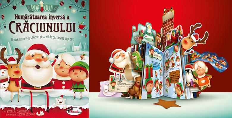Numărătoarea inversă a Crăciunului, de Stella Caldwell și Lewis Choong - Editura Aramis Carte pop-out