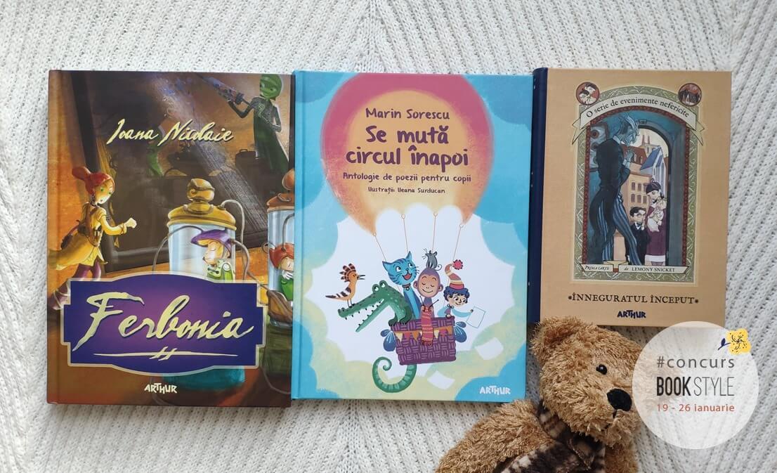 Concurs Book Style - cărți pentru copii - Editura Arthur (7-12 ani)