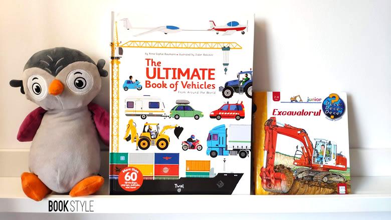 Cărți interactive pentru copii, cu și despre utilaje de construcție și șantier. Carte cu ferestre