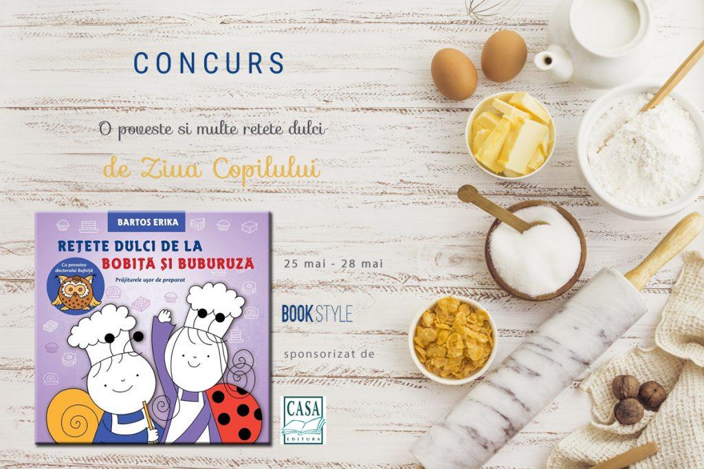 Concurs de carte: Rețete dulci de la Bobiță și Buburuză