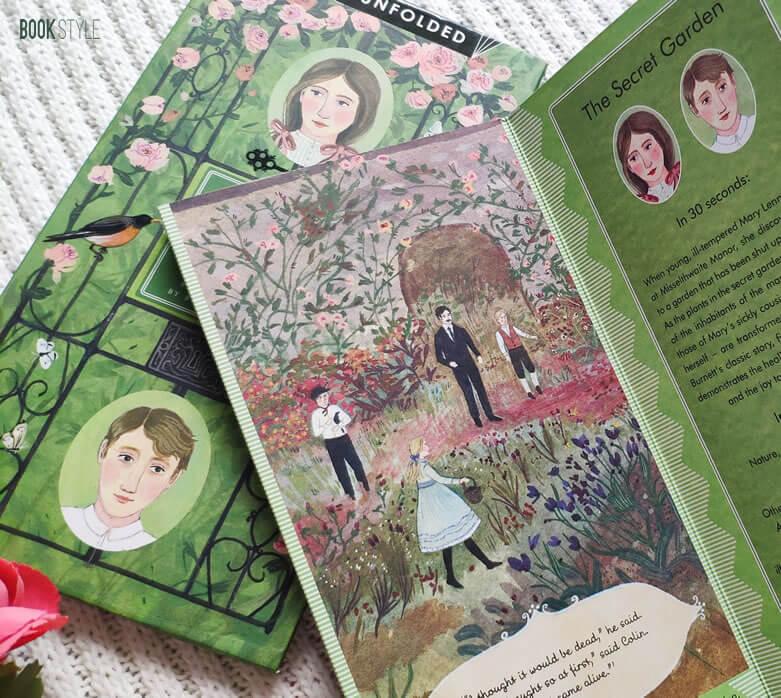 Grădina secretă - Pliant cu rezumatul cărții, de Frances Hodgson Burnett și Becca Stadtlander - Classics Unfolded ISBN: 978184780680