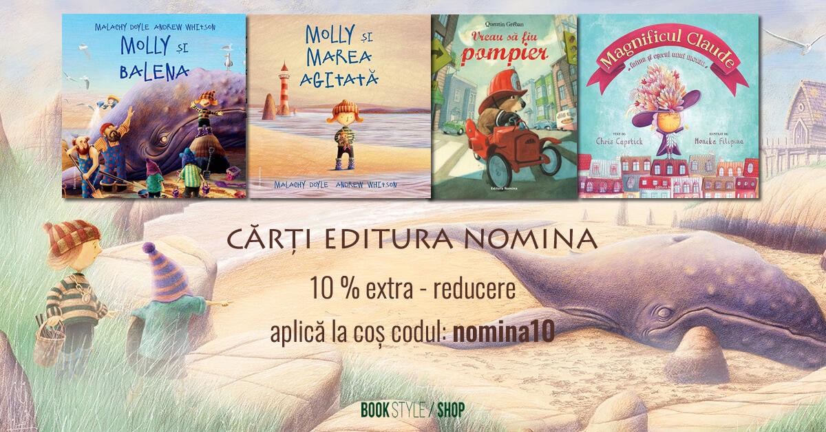 cod promo, voucher reducere carti editura nomina pe Book Style Shop