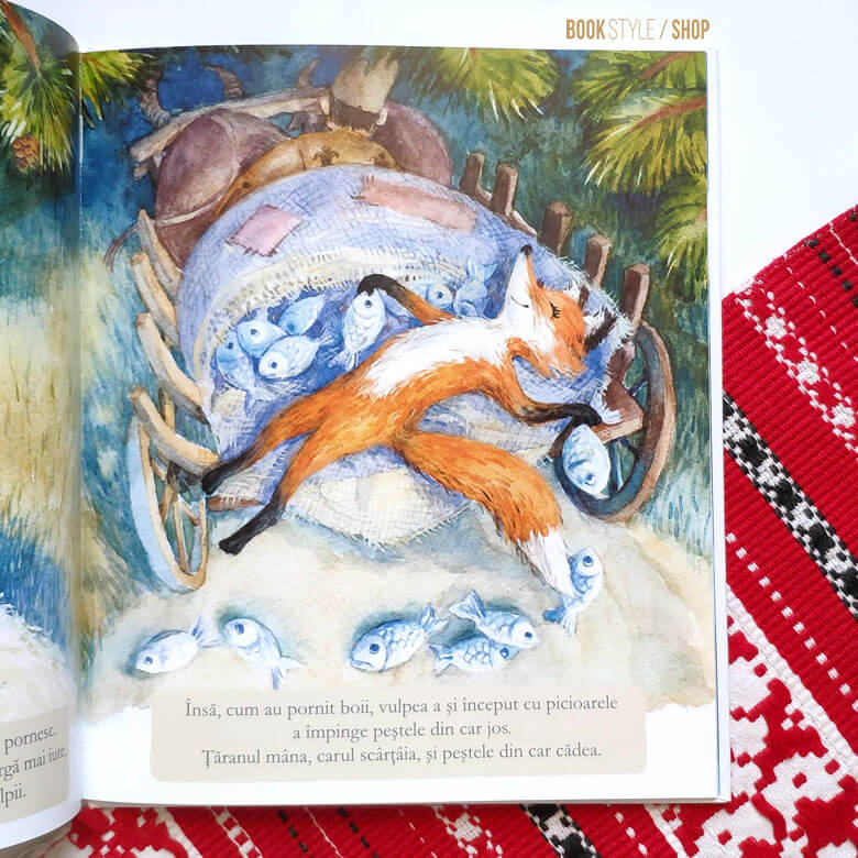 Ursul păcălit de vulpe, de Ion Creangă și ilustrații de Aliona Bereghici