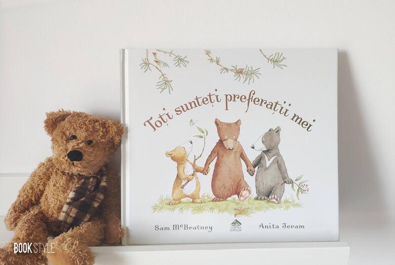 Toți sunteți preferații mei, de Sam McBratney și Anita Jeram. O carte despre familie, frați și gelozia dintre ei | Editura Cartea Copiilor