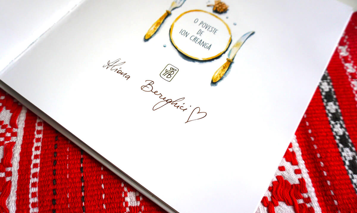 Autograful Alionei de pe cartea Ursul păcălit de vulpe
