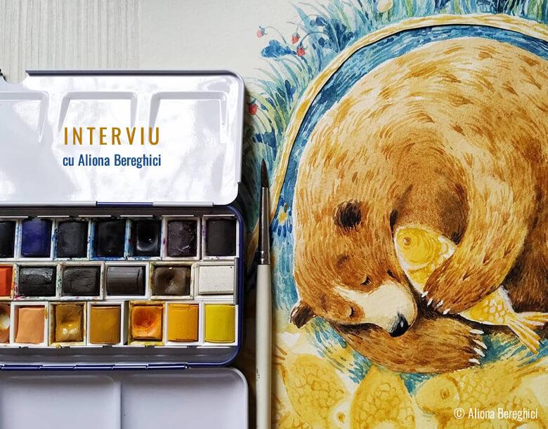 Interviu cu ilustratoarea Aliona Bereghici. Despre Ursul păcălit de vulpe și multe alte curiozități interesante