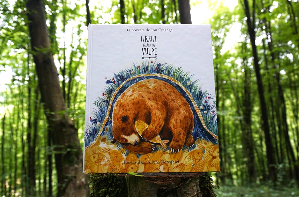 Ursul păcălit de vulpe, de Ion Creangă și Aliona Bereghici - poveste clasică