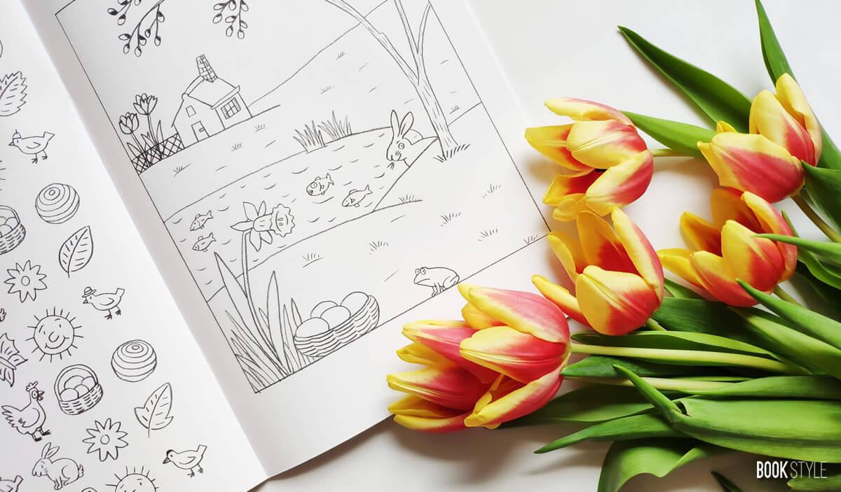 Hoinari prin anotimpuri - Carte de colorat - Editura Casa